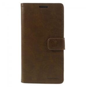 Samsung GS 7 Edge Flipcover til kort PU Læder Brun