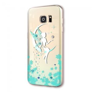 Samsung GS 7 Cover TPU Englemotiv med sten Tyrkis