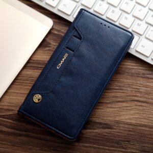 Samsung GS 7 Edge Flipcover t. kort. PU Læder Blå