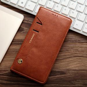 Samsung GS 7 Edge Flipcover t. kort. PU Læder Brun