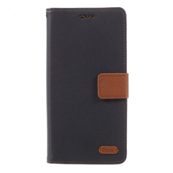 Samsung GS Note 8 Flipcover til kort Tekstur Sort