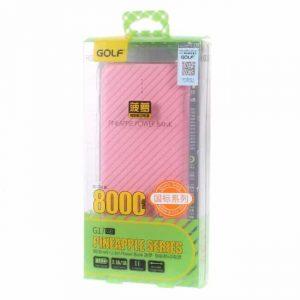 Powerbank 8000mAh, lyserød