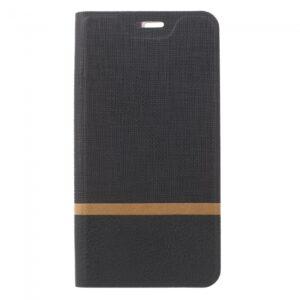 Huawei P10 Flipcover til kort. Sort/Grå