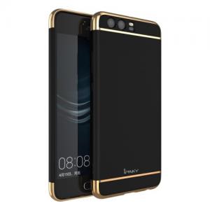 Huawei P10 Bagcover. 3 i en. Sort