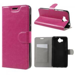 Huawei Y5/Y6 (2017) Flipcover t.kort PU Læder Pink