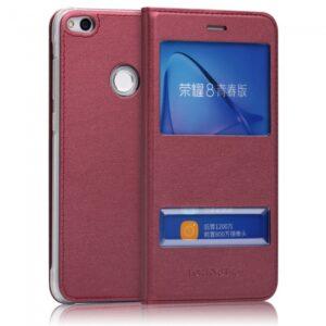Huawei P8 Lite (2017) Flipcover med vindue. Rød