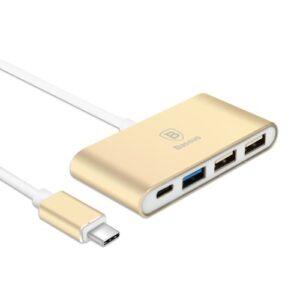 USB-C til USB Hub. Gold