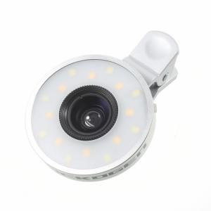 2 i en kameralinse med LED lys Silver