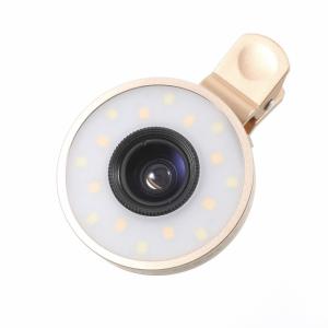 2 i en kameralinse med LED lys Gold