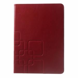 iPad Air 2 PU-læder flipcover m. kortholder, rød