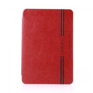 iPad mini flipcover, PU læder Rød med sort streg.