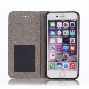 iPhone 6 plus/6S plus flip-cover m. kortholder, guld
