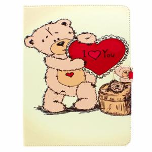 iPad 2,3,4 Flip-cover med bamse og hjerte