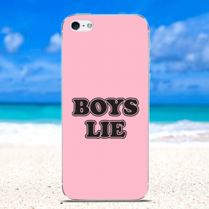 iPhone 5/5S/SE Bagcover TPU. Lyserød med tekst
