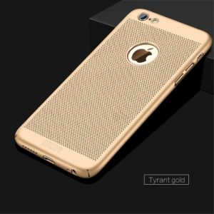 iPhone 6/6S Cover med lufthuller Gold