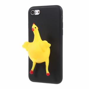 iPhone 7/8 Cover TPU Høne lægger æg effekt. Sort