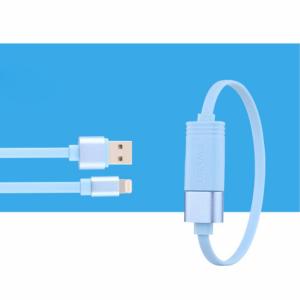 20cm. lightning kabel. Blå