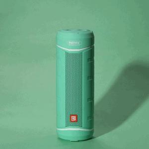 Bluetooth højtaler. Cylinderformet. Turkis