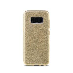 Samsung S8 Bagside. TPU Guld Glimmer