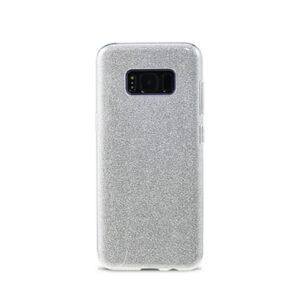 Samsung S8 Bagside. TPU Silver Glimmer