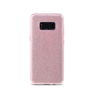 Samsung S8 Bagside. TPU Pink Glimmer