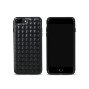 iPhone 7+/8+ Cover PU Læderflet. Sort