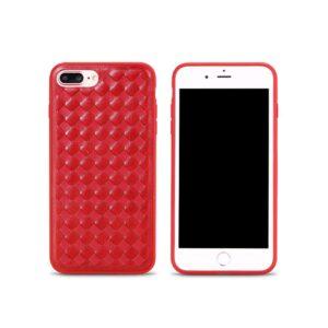 iPhone 7+/8+ Cover PU Læderflet. Rød