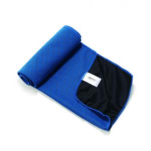 Sportshåndklæde Køler Bambusfibre/Carbon fiber Blå