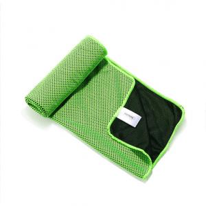 Sportshåndklæde Køler Bambusfibre/Carbon fiber Grø