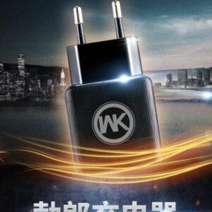 Oplader 2 Ports inkl. Micro-USB ledning 1m. Sort