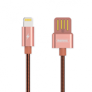 Lightning Kabel hurtig opladning 1m. Rose Gold