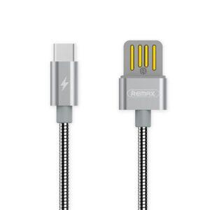 USB-C Kabel Hurtig opladning 1 m. Sølv