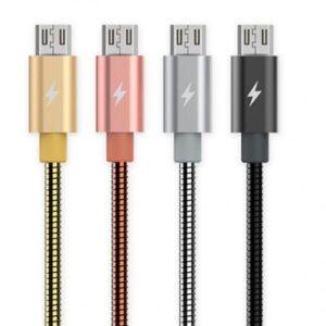 Micro-USB Kabel hurtig opladning 1m. Sølv