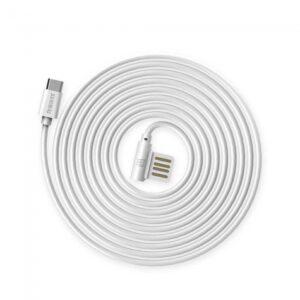 Micro-USB Kabel 1m. Rund Hvid
