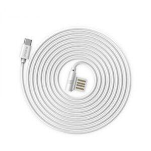 USB-C Kabel 1m. Rund Hvid