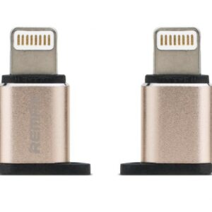 Micro USB til Lightning Adapter. Gold