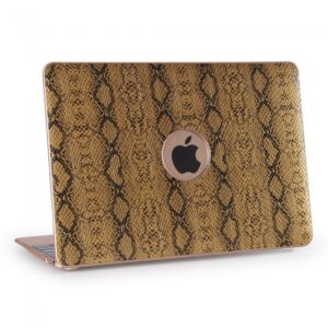 "Macbook 13.3"" Retina cover. PU slangeskind. Gold"