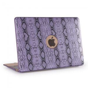"Macbook 13.3"" Retina cover. PU slangeskind. Lilla"