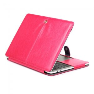 "Macbook Pro 13"" (2016) Cover. PU læder. Pink"