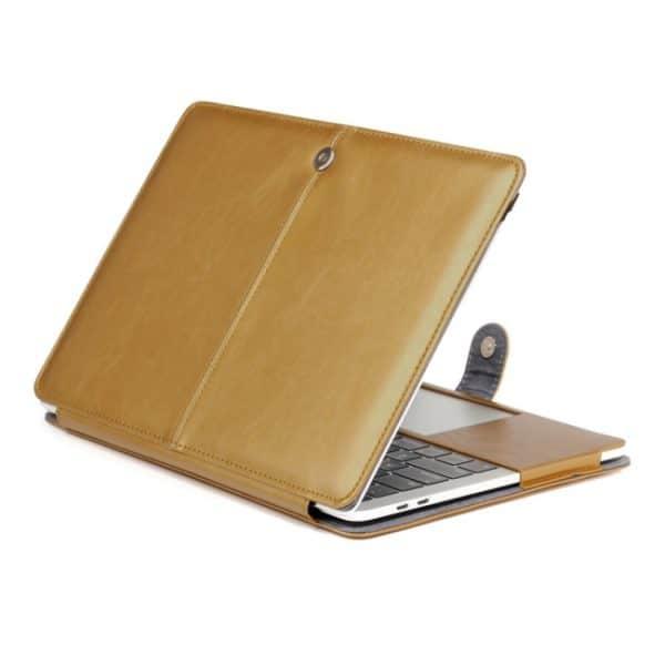 """Macbook Pro 13"""" (2016) Cover. PU læder. Lys brun"""