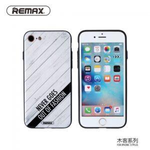iPhone 7+/8+ Cover. TPU Hvid trælook med tekst