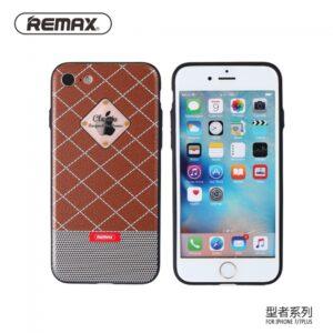 iPhone 7+/8+ Cover. Brun/hvid ternet mønster