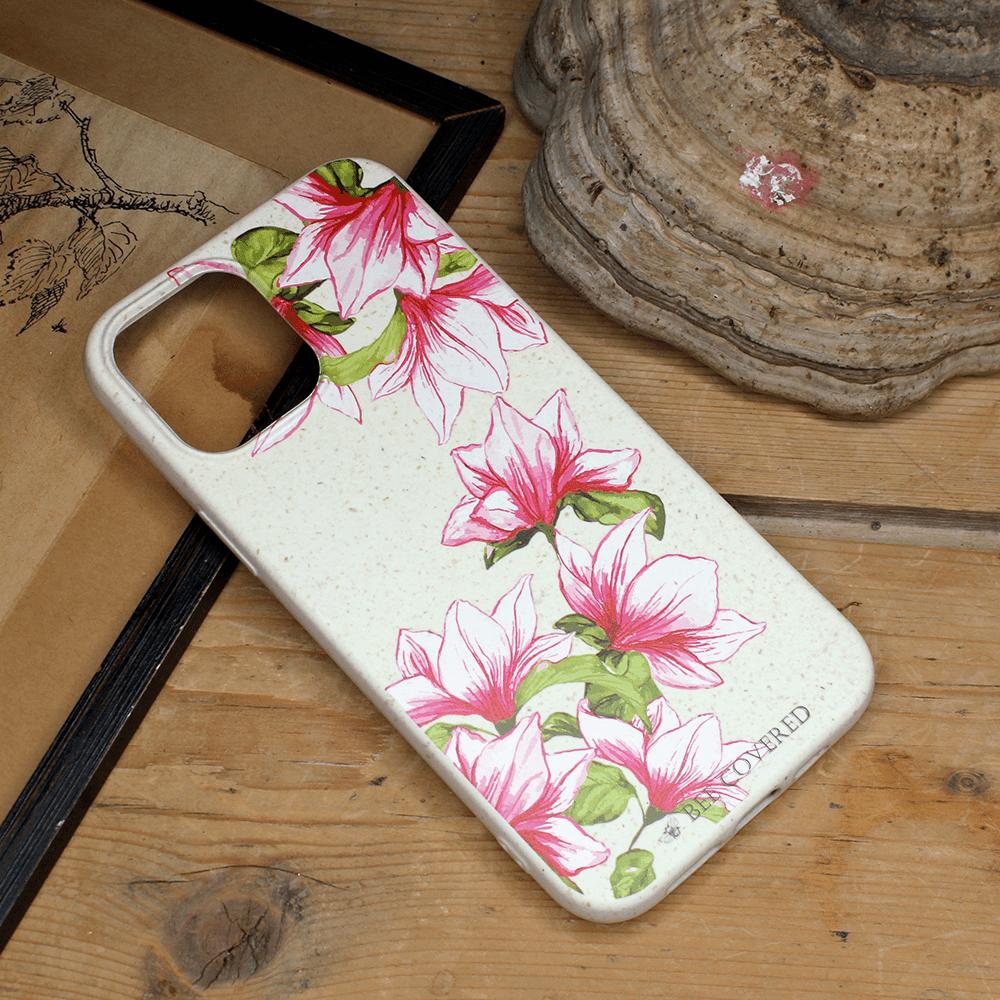 iPhone 12 Mini - Pink & Grønne Blomster