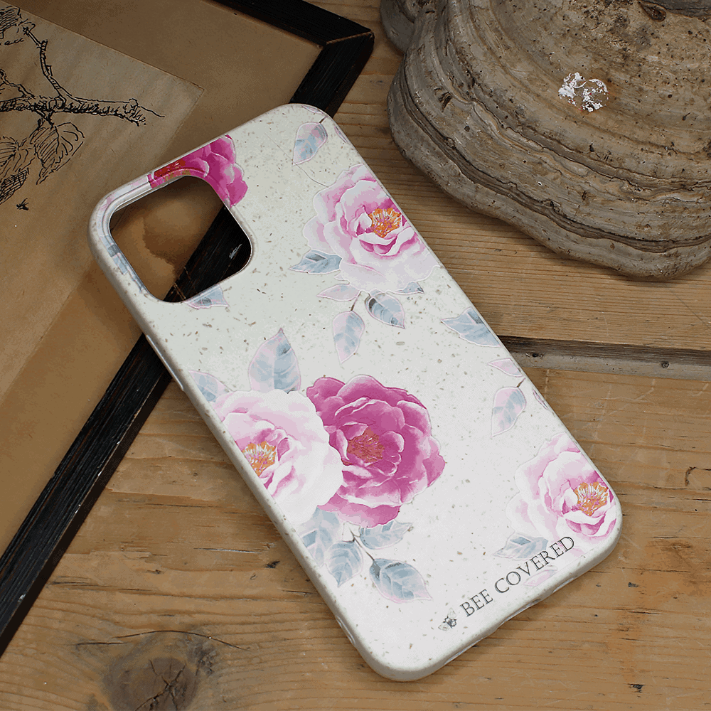 iPhone 12/12 Pro - Pink Blomster