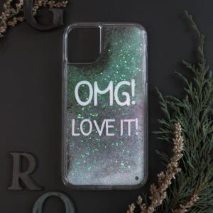 iPhone 11 med flydende glitter, OMG