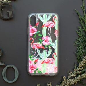 iPhone 7/8/SE2020 med flydende glitter, Blomster