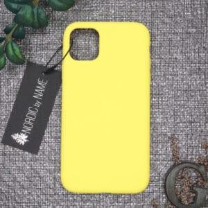 iPhone 11 bagside silikone, Gul