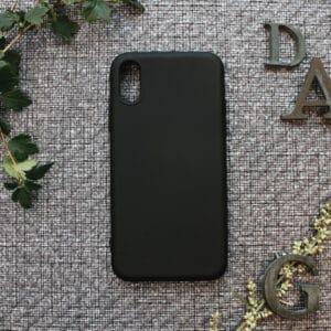 iPhone X/XS bagside silikone, sort