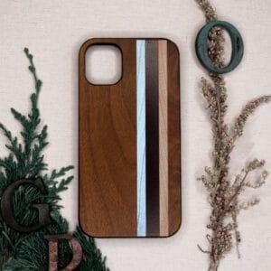 iPhone 11 Pro Max bagside i træ, Striber