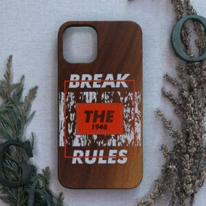 iPhone 11 Pro max bagside i træ, Break the rules